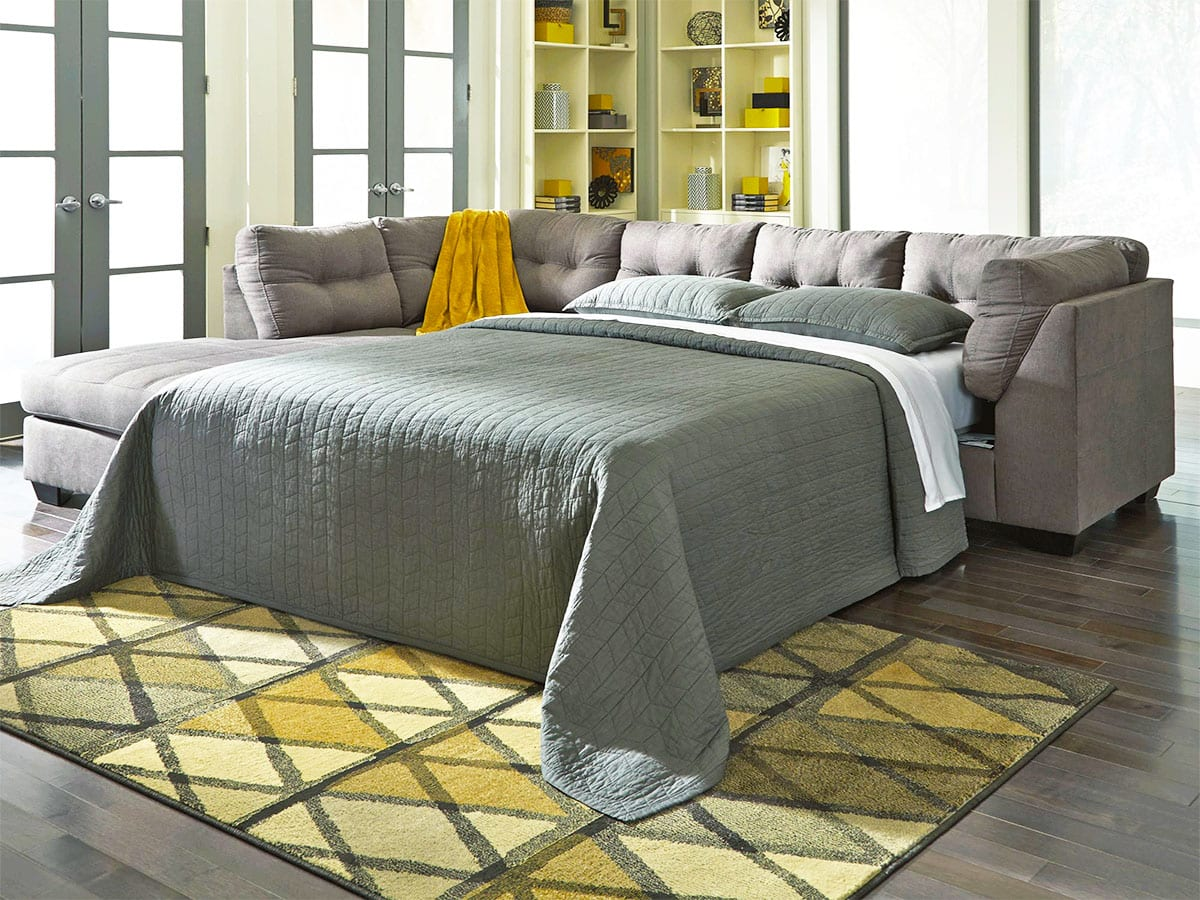 Maier Charcoal 2 Piece Sofa Bed Sectional at MJM Furniture