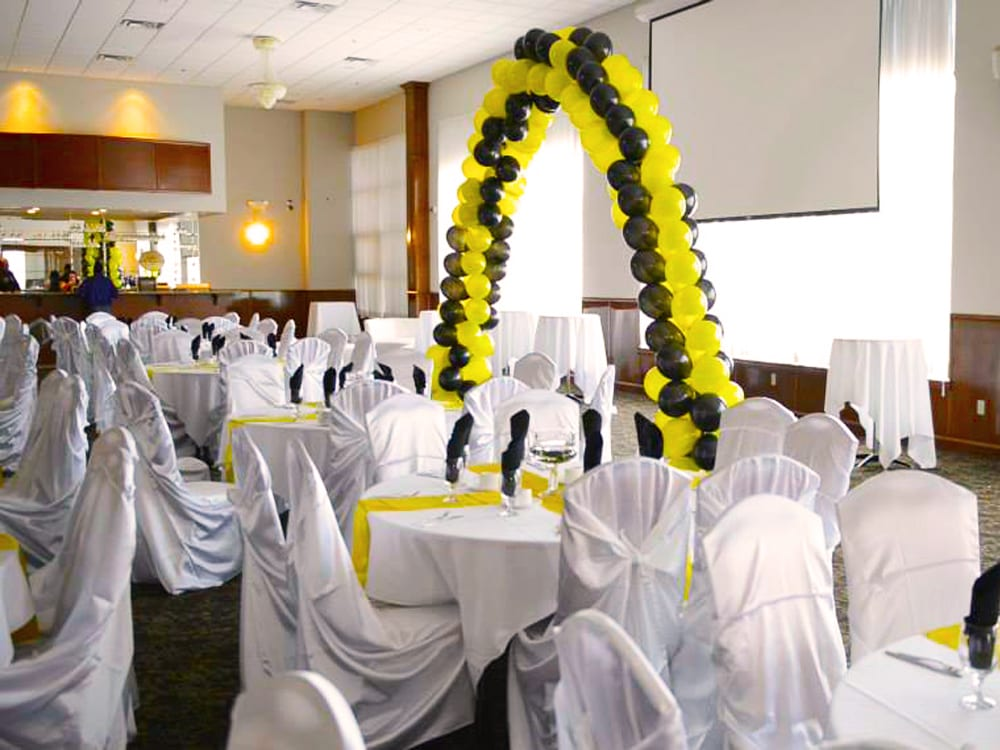 AV Setup with Wedding Reception Surdel Party Rentals on Best in BC
