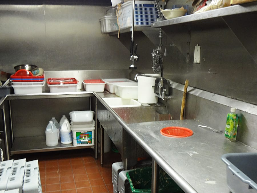Ange's Plumbing restaurant kitchen TI