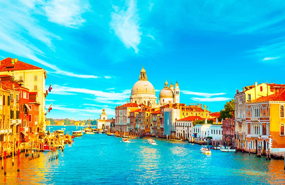 Boating on the Grand Canal in Venice Italy with Columbus World Travel