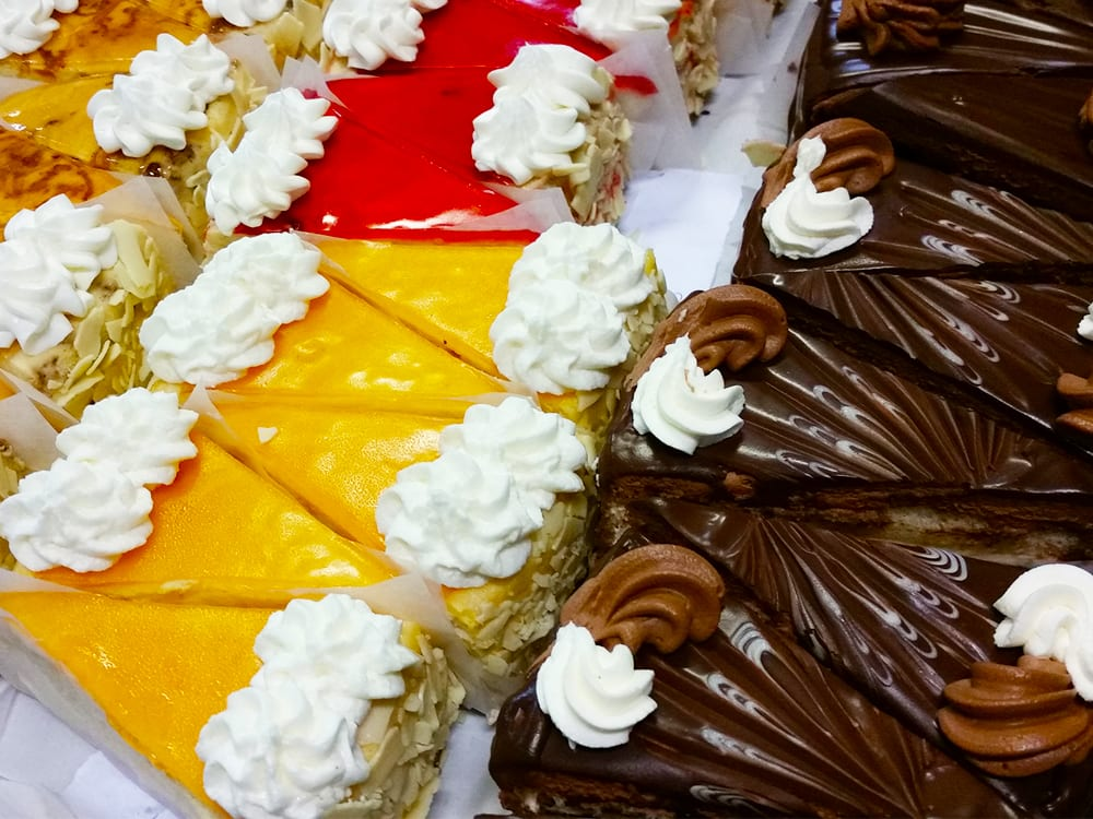 Cheesecake and cake slices at Steveston Bakery