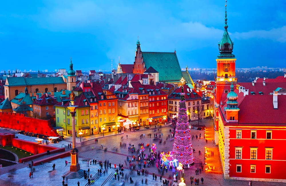 Enjoy Christmas in Warsaw Poland with Columbus World Travel
