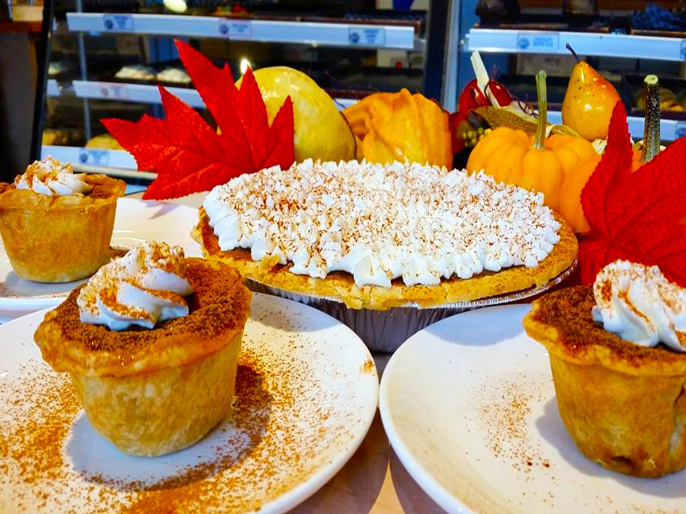 Festive Fall Pumpkin Pie and Old Fashioned Tarts at Steveston Bakery