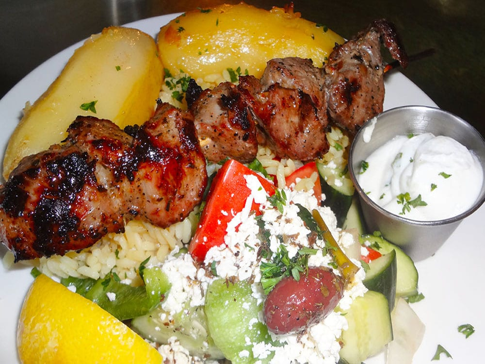 Lamb Souvlaki at Kisamos Taverna on Best in BC