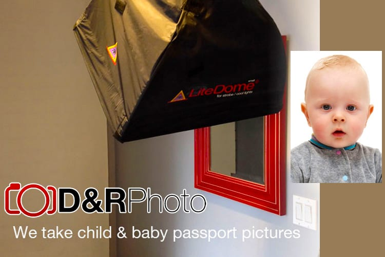 We take baby passport photos and child passport photos at D&R Photo