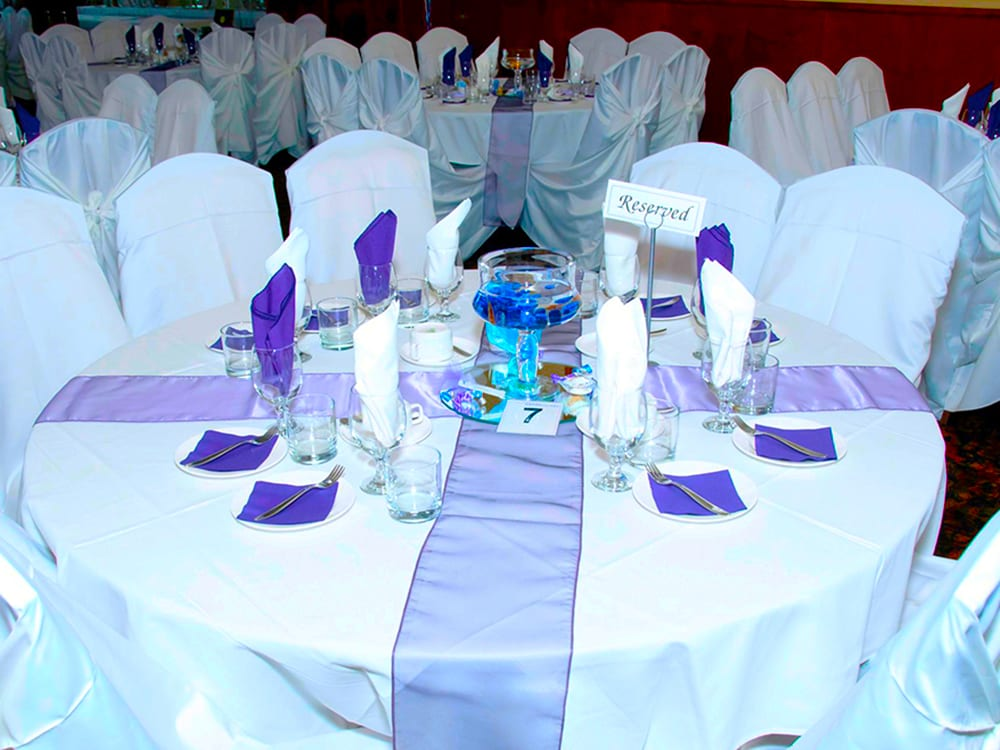 Wedding Reception Table Settings at Surdel Party Rentals
