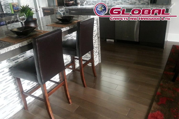 Flooring and area rug in North Vancouver by Global Carpets and Flooring