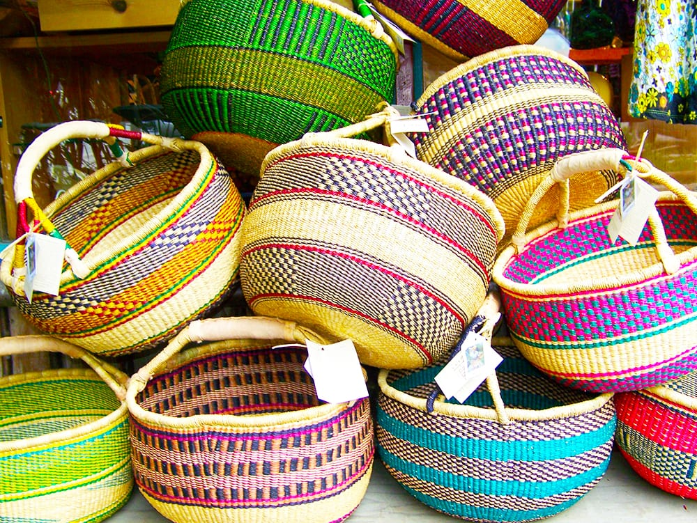Hand Woven Baskets at Ixchel Galiano Craft Shop