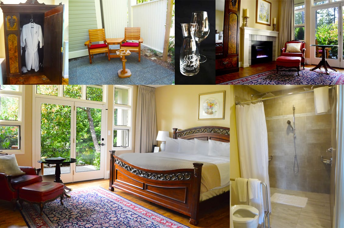 King size bedroom suite with an Accessible Bathroom at Woodstone Manor on Galiano Island