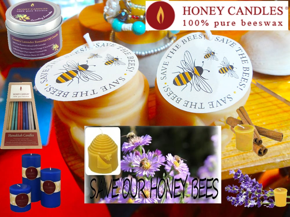 Save the Bees 100% Pure Beeswax Honey Candles at Ixchel Galiano Craft Shop