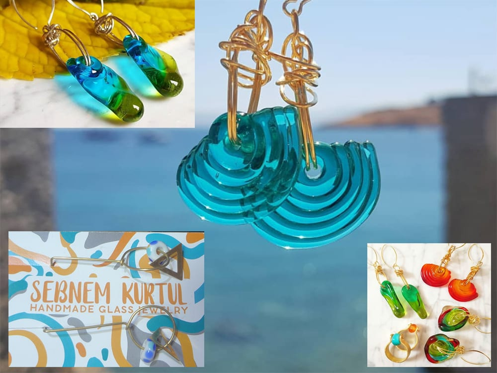 Sebnem Kurtul - Handmade Glass Jewelry Artist & Illustrator at Ixchel Galiano Craft Shop