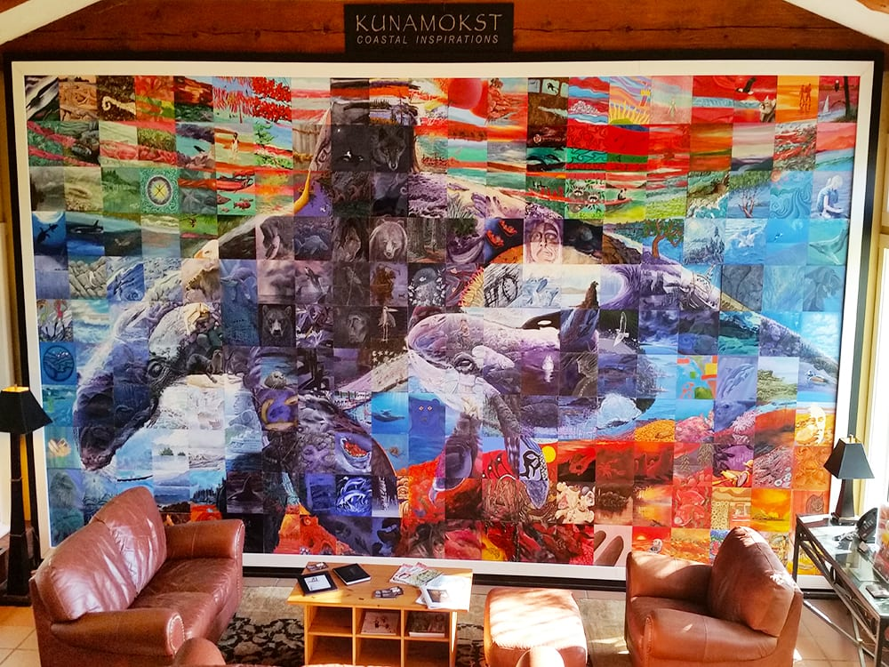 The Kunamokst Mural was created by 200 Westcoast Artists over a year and a half for the 2010 Olympics