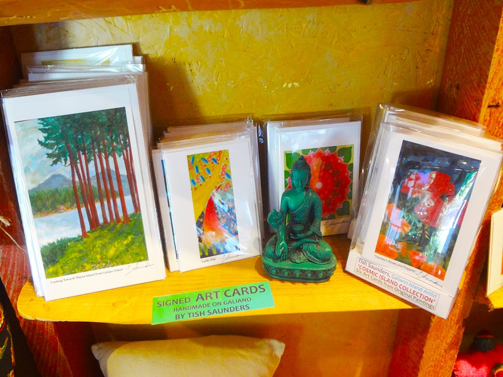 Trish Saunders signed Art cards at Ixchel Galiano Craft Shop