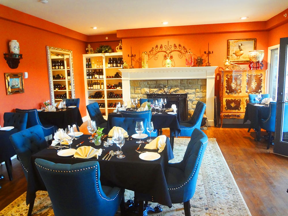 Woodstone Manor Restaurant with a great wine selection is open to the public year round