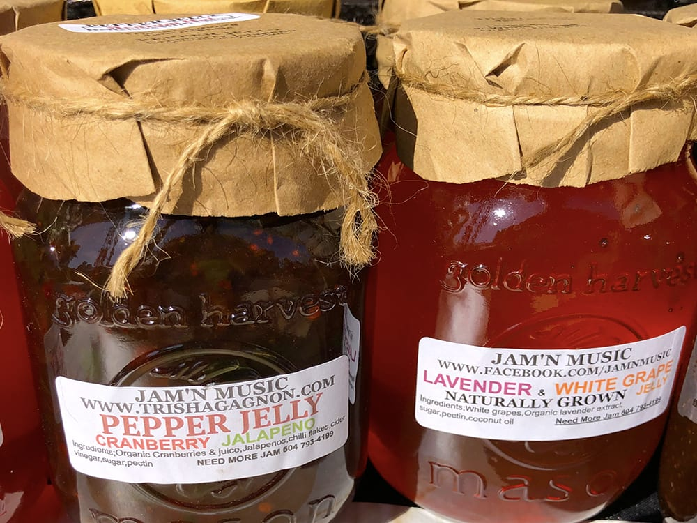 Cranberry Jalapeno Pepper Jelly and Lavender and White Grape Jelly by Jam'N Music