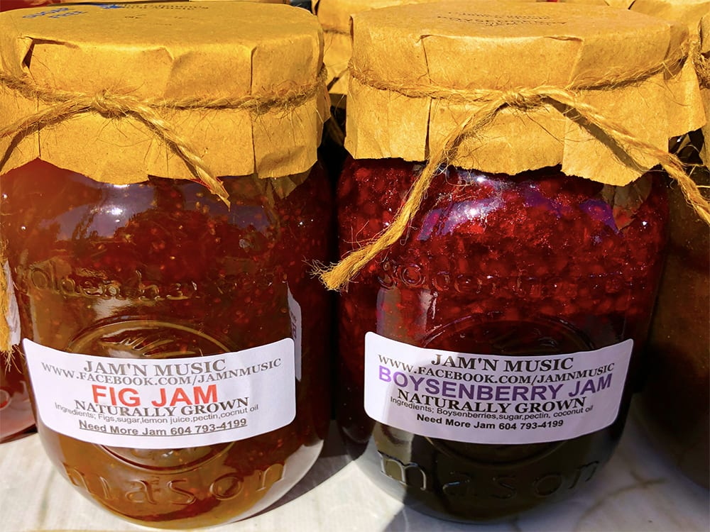 Fig Jam and Boysenberry Jam by jam'n music