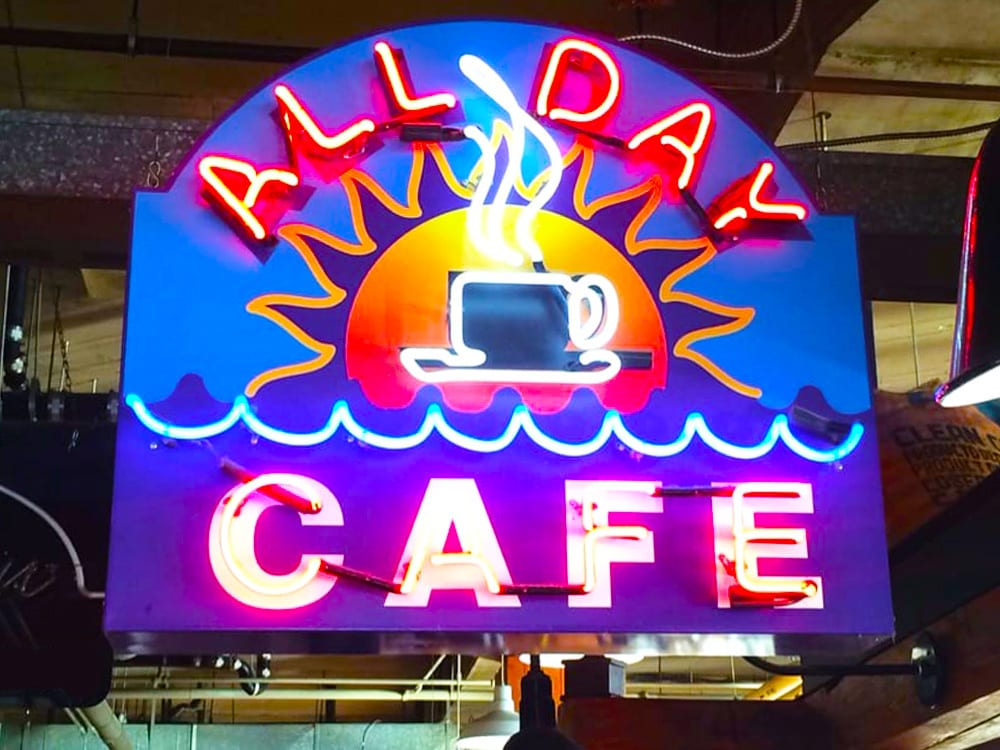 All Day Cafe Iconic Neon Sign