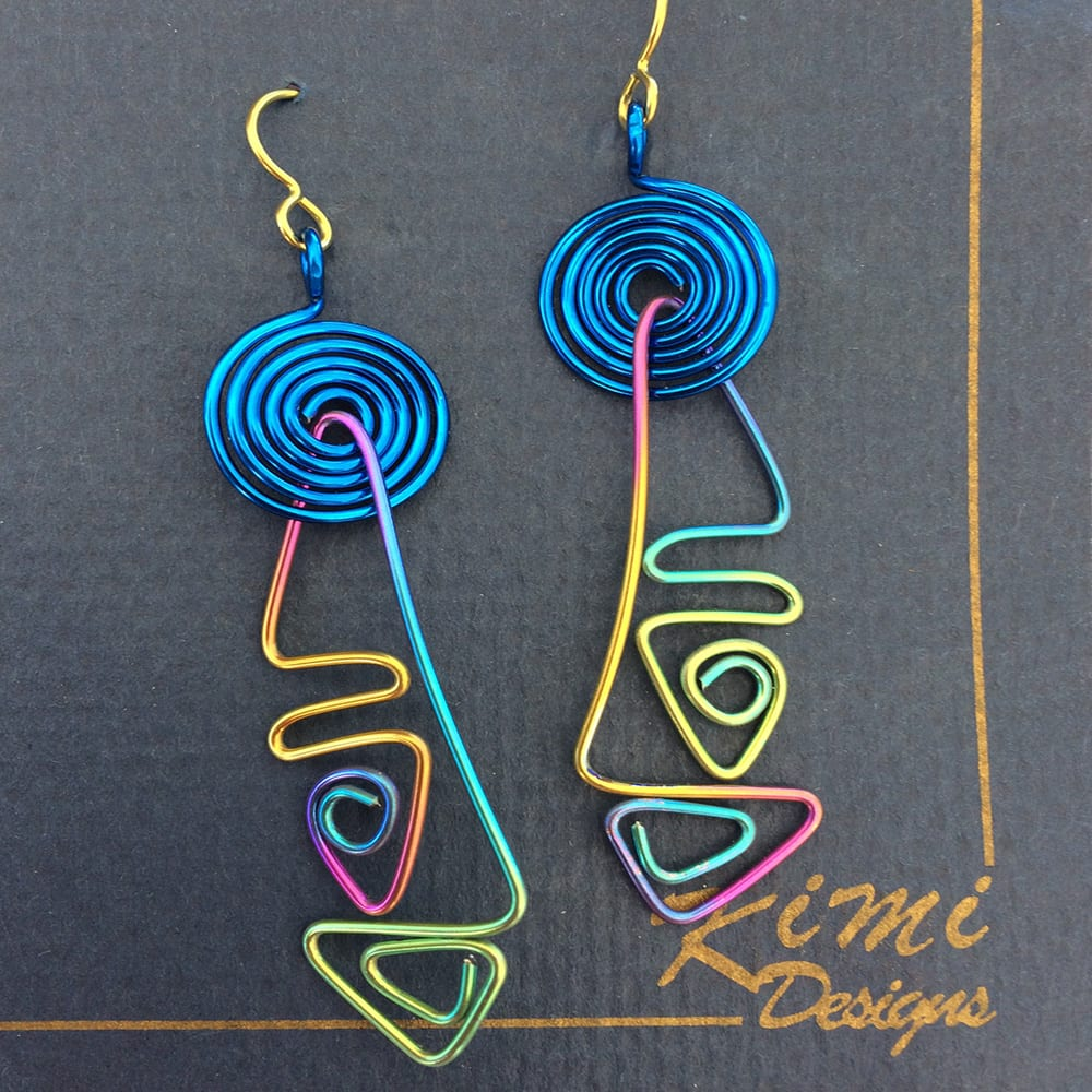 100% Hypoallergenic Niobium and Titanium Earrings by Kimi Designs Jewellery