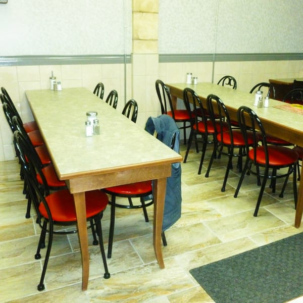 Commercial seating for limited space restaurant