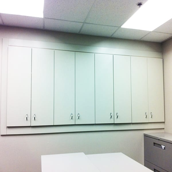 Copy Room Inset Cabinets