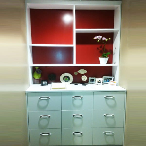 Floor to ceiling residential space saver built in cabinet