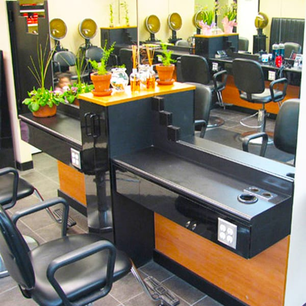 Hair Salon Powered Styling Stations
