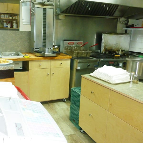 Small Commercial Kitchen maximum space utilization